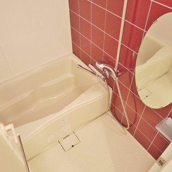 水廻りは、赤なのね♪※写真は同タイプの別室