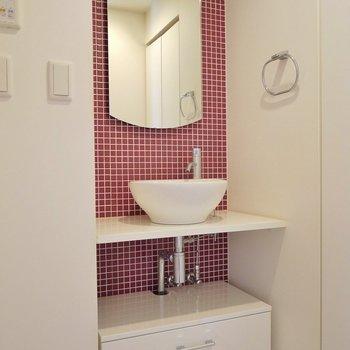 可愛らしい洗面で、今日も可愛く♡※写真は同タイプの別室
