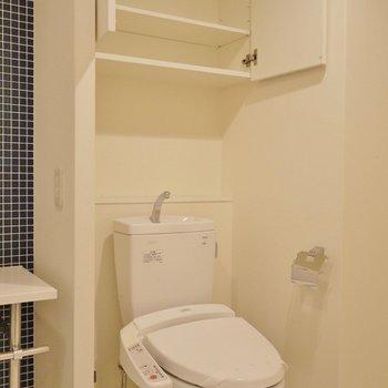 お隣は、おトイレ。上の物置は助かるぅ~。※写真は同タイプの6階部分。