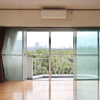 リビングの窓からはこんなに贅沢な景色が広がるのです