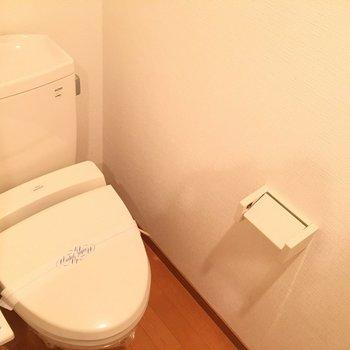 トイレはウォシュレットついてます。※写真は11階の同間取り別部屋のものです