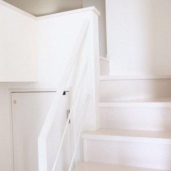 リビングの階段を上がってみると。。
