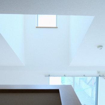 ロフトも明るい秘密は、この天窓。