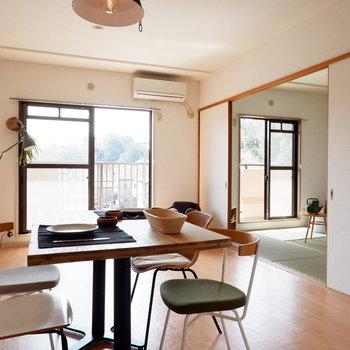 和室つきの3LDKで送るゆったりライフ。※家具はサンプルです