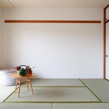 【和室】いつでもゴロンとできるようにしておくと良いかも。※家具はサンプルです