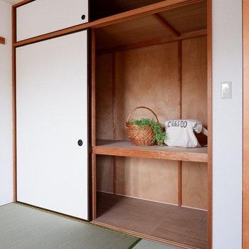 【和室】収納も大きい!※家具はサンプルです