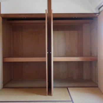 【和室】収納は奥行きもしっかり。※写真は前回募集時のものです