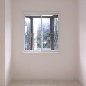 【3.7帖洋室】ここも2重窓なんです。※写真は通電前のものです。