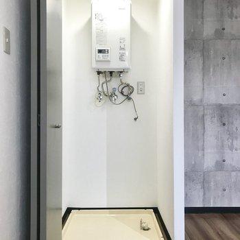 クローゼットはと思いきや、、、洗濯機スペース!