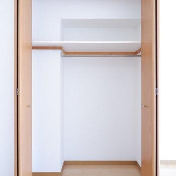 2階の収納大容量です。※写真は1階の同間取り別部屋のものです。