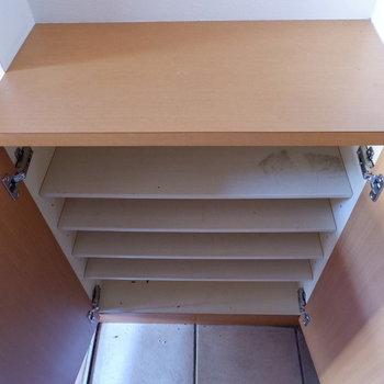 シューズボックスもちゃんとありますよ。※写真は1階の同間取り別部屋のものです。