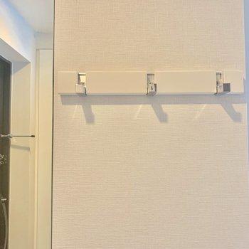 フックが付いているので鍵をかけたりできますね※写真は4階の同間取り別部屋のものです
