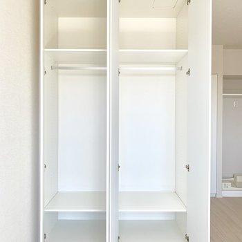 充実した収納スペース※写真は4階同間取り別部屋のものです。