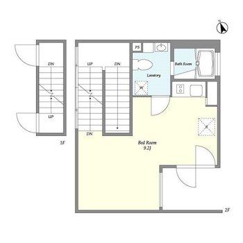 居室は2階です