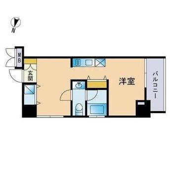 お部屋が2つに分かれた構造!