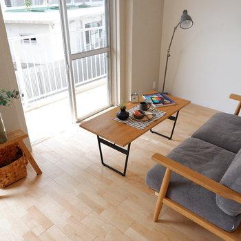 【LDK】ソファでぼーっとくつろいでしまいそう。※家具はサンプルです