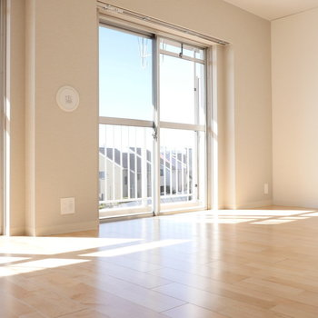 南西向きなので、気持ちのいい日差しが入りますよ。 ※写真は同階反転間取り別部屋のものです