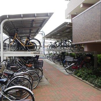 サイクリング用のアイテムをおいてもよし。