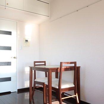 朝日を感じながらしっかりごはん食べましょう◎※写真は13階の同間取り別部屋のものです。