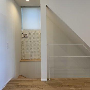 階段横かわいいです。