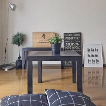こっちにテレビやベッドを置いても・・・※写真は5階の同間取り別部屋のものです