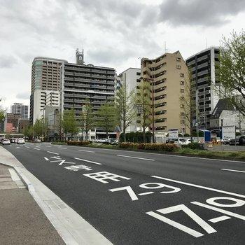 昭和通り沿いなので地下鉄以外にもバスも便利ですよ。