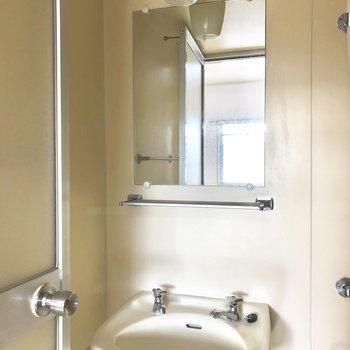 鏡も棚も抜かりなく!
