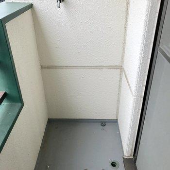洗濯機置場はバルコニー右側。
