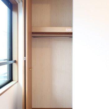クローゼットは小さめだけど収納家具をお部屋に置けば大丈夫!