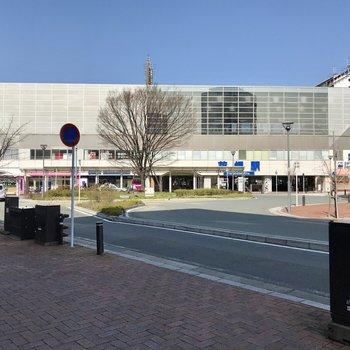 花畑駅、おっきい!スーパーも入っています。