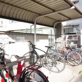 南側にある駐輪場 ※写真は前回募集時のものです。