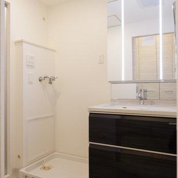 水回りも清潔感あります。洗面台はホテル仕様に。