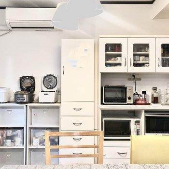 【1階共用部】トースターに炊飯器!必要なものが揃っています!