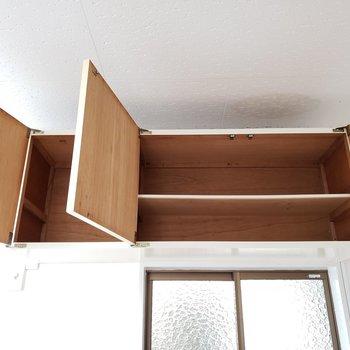 吊り戸棚には普段使わない物をしまいましょ!