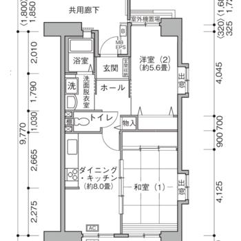 和室と洋室がひとつずつの2DKです