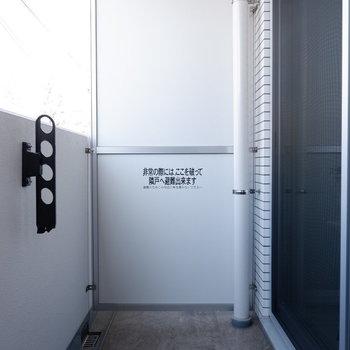1階ですが、柵ありで程良い広さ!※写真は1階の反転間取り別部屋のものです