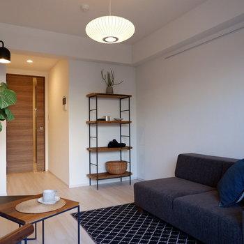 ソファベッドにするとより便利になりそうですね。※写真は1階の同間取り別部屋のものです