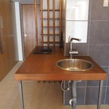 キッチンが洗面台にもなります ※写真は前回募集時のものです。