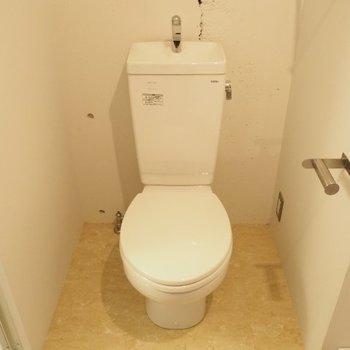 トイレは脱衣スペースに ※写真は前回募集時のものです。