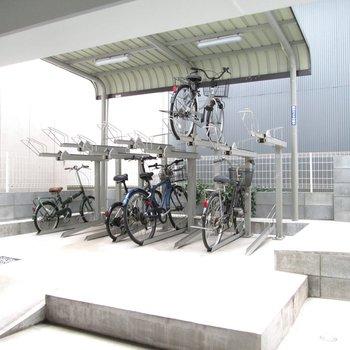 自転車もしっかりと管理できます。