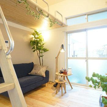 天井の高さを活かしましょう!※写真は別部屋のレイアウト例です
