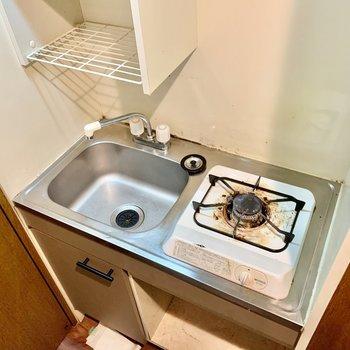 シンクトレーがオススメ。洗い物はこまめに。(※写真は清掃前のものです)