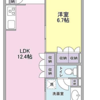 寝室を分けられる使いやすい空間の間取り
