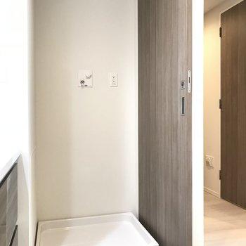 室内洗濯機置き場※写真は20階の同間取り別部屋・前回募集時のものです