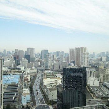 なんと、東京タワーもスカイツリーも見えるんです!