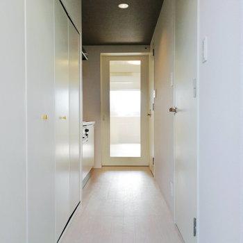 以上が廊下の設備でした。※写真はクリーニング前のものです