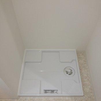 洗面台の隣には洗濯機置場。