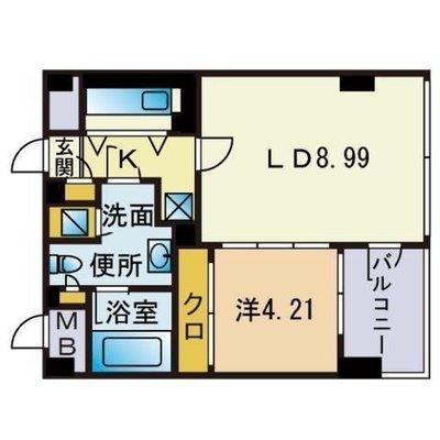 客室511 〜フランボワーズ〜 の間取り