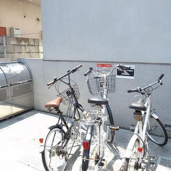 駐輪場です。※写真は前回募集時のものです