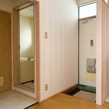サニタリーと玄関はキュッとまとまってます。